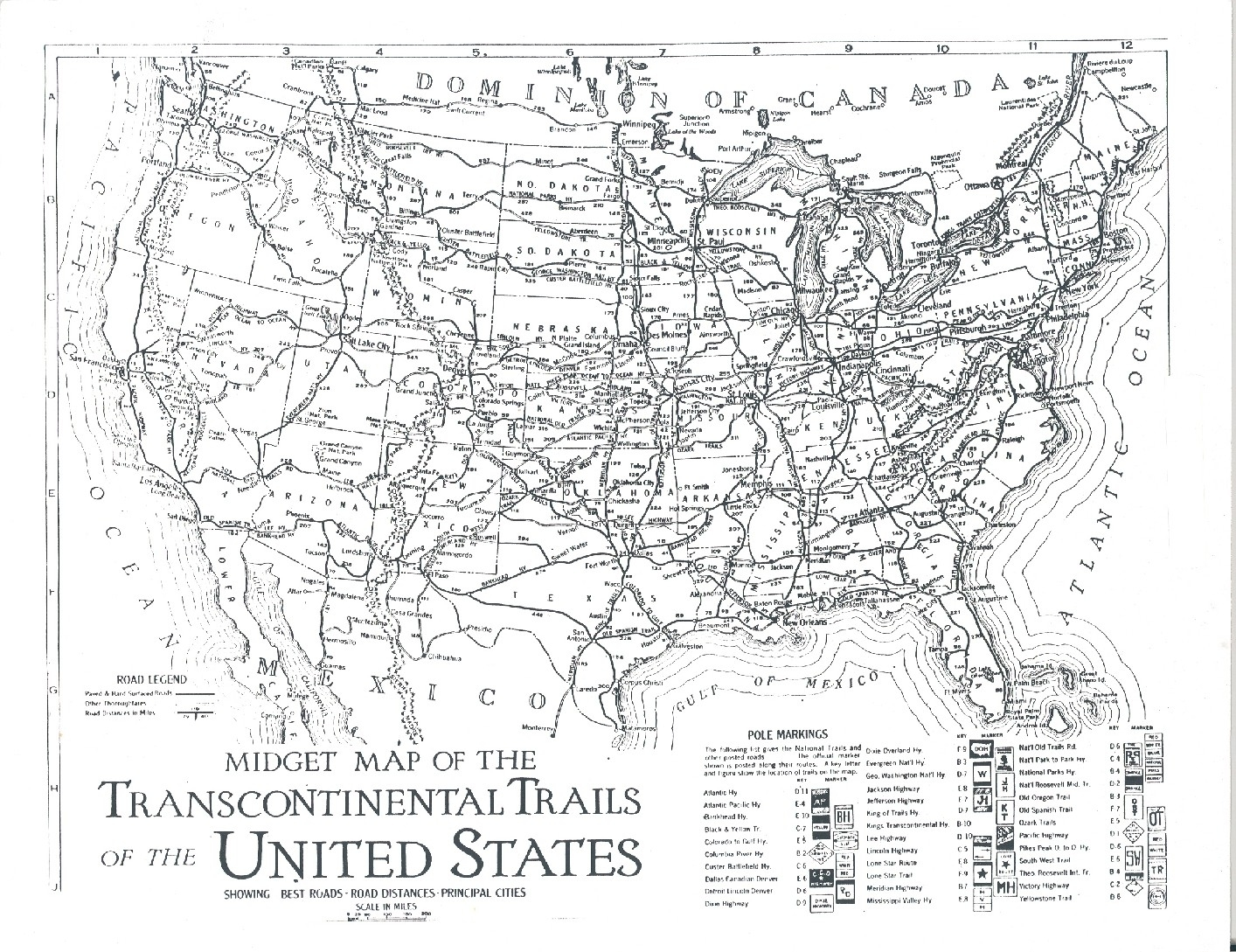 Old Us Map No States