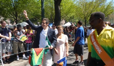 Andrew Cuomo, candidate for New York Governor, at the West Indian Day Parade - Photo: Azi Paybarah