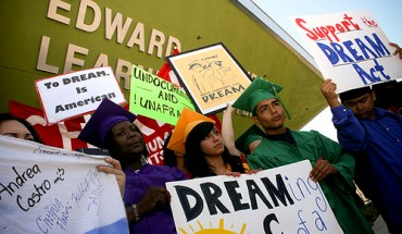 Rallying for the DREAM Act in Los Angeles
