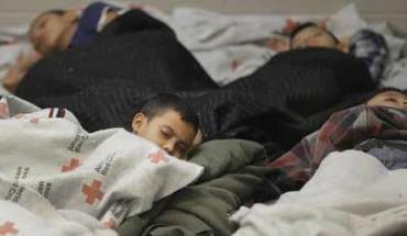 Children sleeping in detention facilities