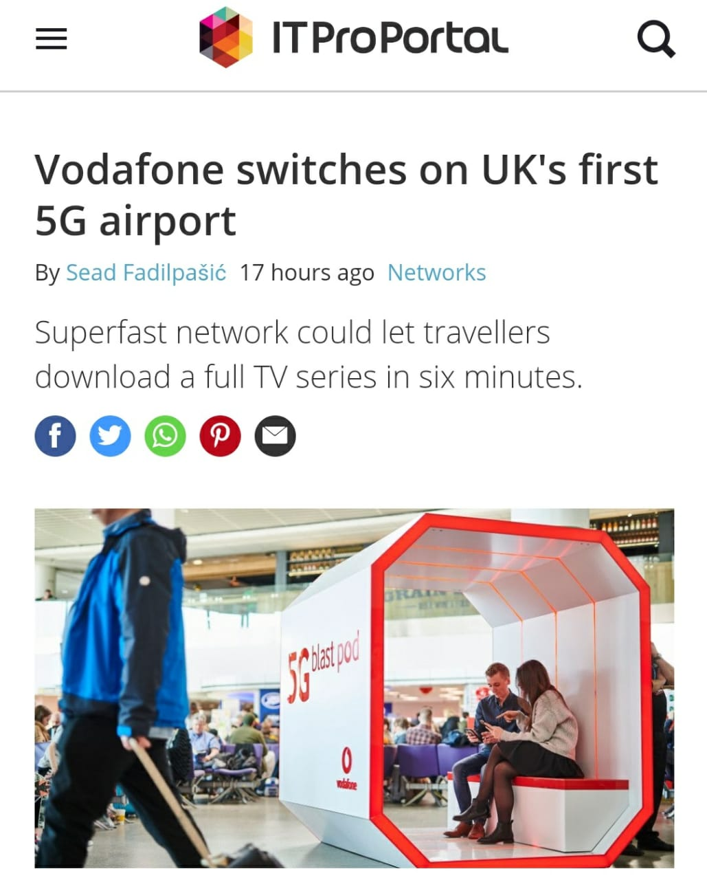 Vodafone switches on UK's first 5G airport - FIAKS