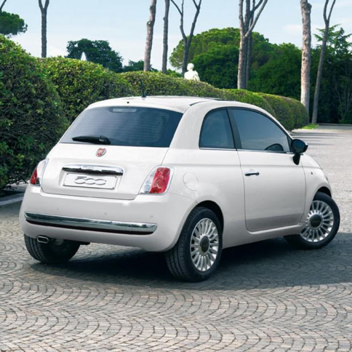 Fiat 500 Rear Chrome Bumper Protection Official Fiat UK