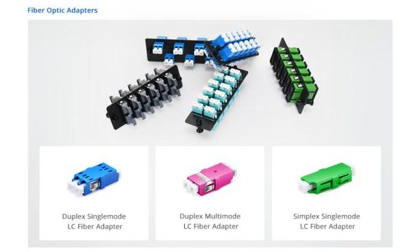 LC fiber adapters