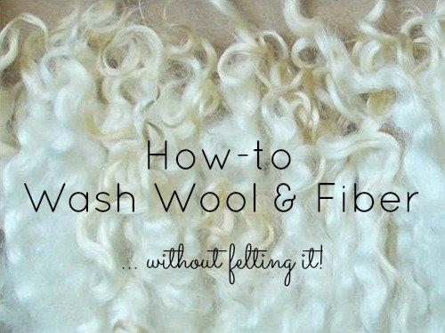 How to wash wool, Fiberartsy.com