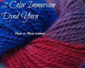Multi Color Yarn Dyeing – Red & Blue Makes …..