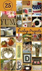 25 Fall Crafts with Burlap Fabric