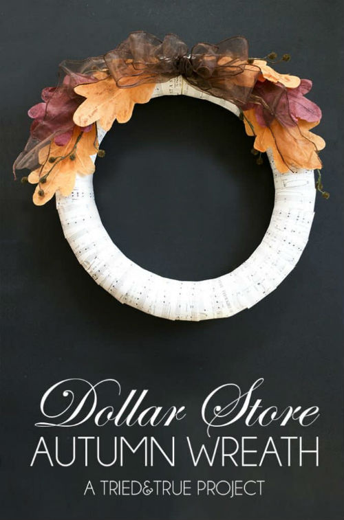 Homemade Dollar Store Wreath