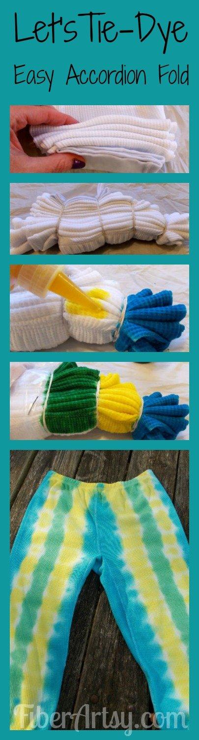 Let's Tie Dye Long Johns, FiberArtsy.com