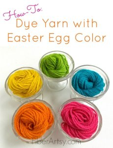 How to Dye Yarn with Easter Egg Color