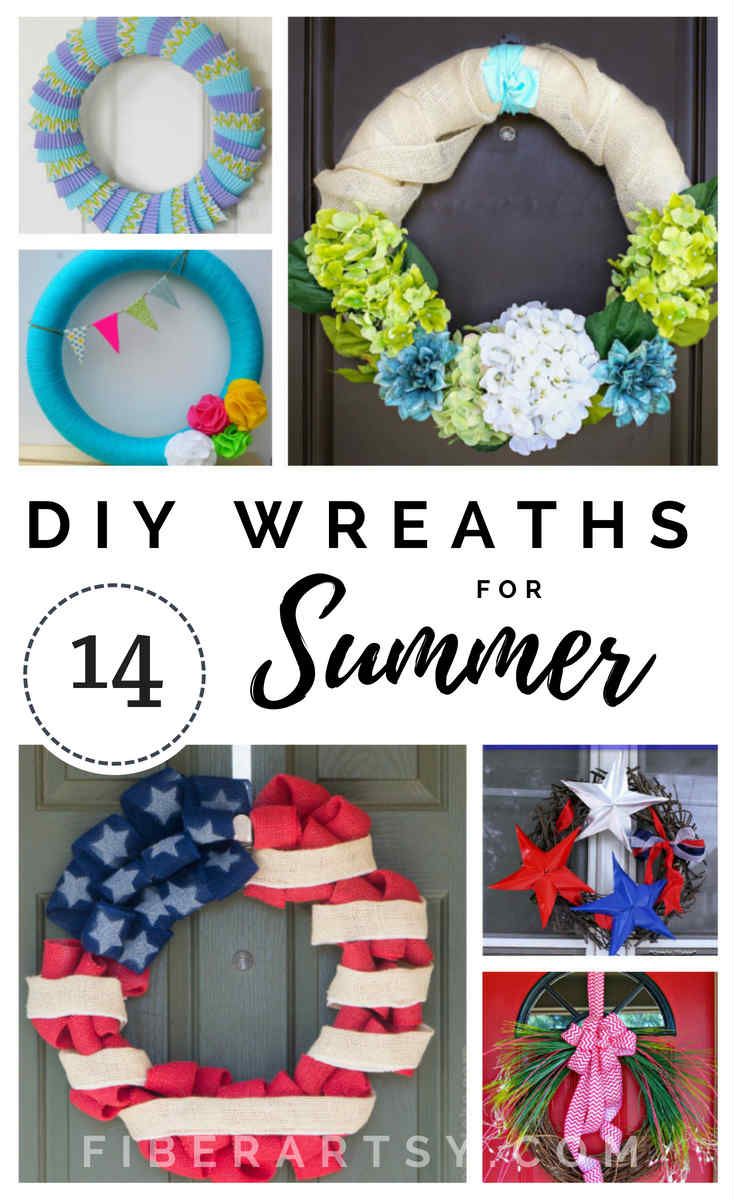 DIY Summer Wreaths. Learn how to make a stunning summer wreath for your front door with these great craft tutorials. By FiberArtsy.com