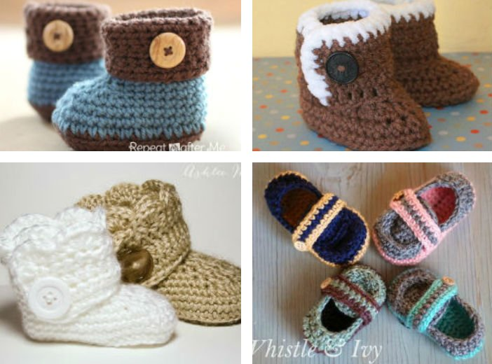 14 Free Crochet Patterns For Baby Booties Fiberartsy