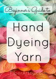 Beginner's Guide to Hand Dyeing Yarn