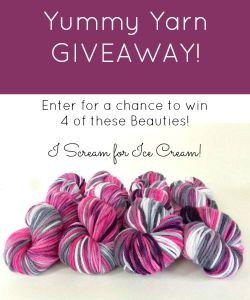 Yummy Yarn Giveaway time!