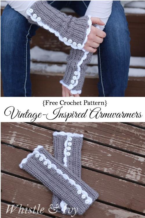 crochet armwarmer pattern