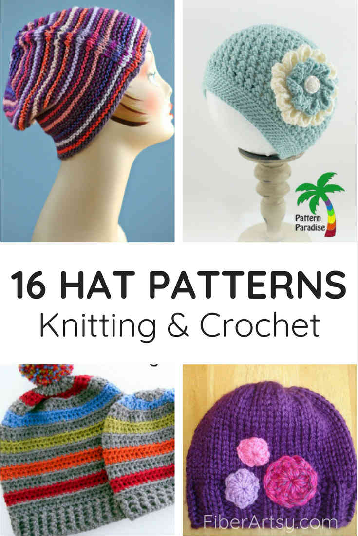 16 Free Hat Patterns for Crochet and Knitting