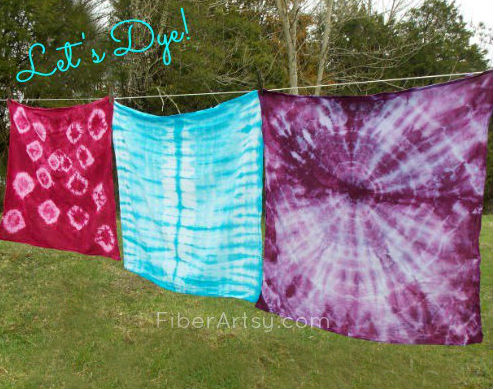 Shibori Dyed Kitchen Tea Towels Gift for Cooks