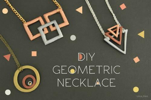 DIY Geometric Necklace Jewelry Gift Idea