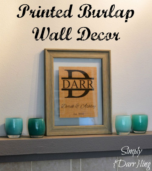 Printed Burlap Personalized Wall Decor