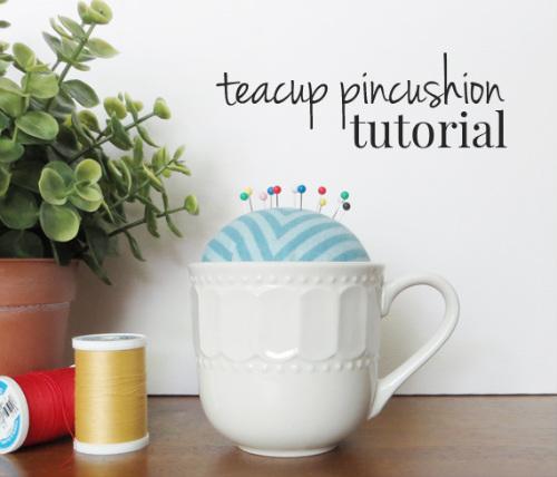 DIY Pincushion in a Teacup