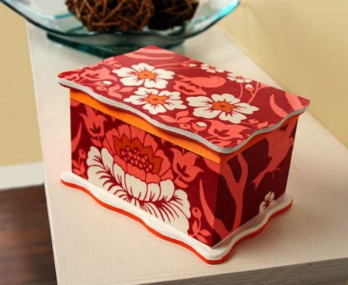 DIY Jewelry Box with Mod Podge Homemade Gift
