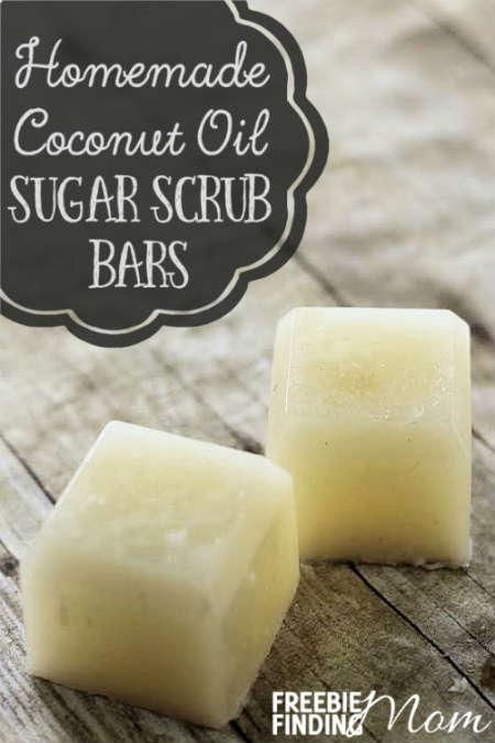 DIY Beauty Care Homemade Sugar Scrub Bars using Coconut Oil