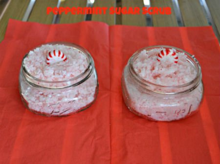 DIY Pepperming Sugar Scrub
