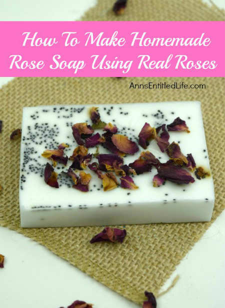 Homemade Rose Petal Soap Bars