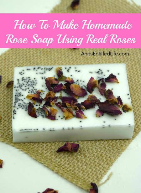 Homemade Rose Petal Soap Bars