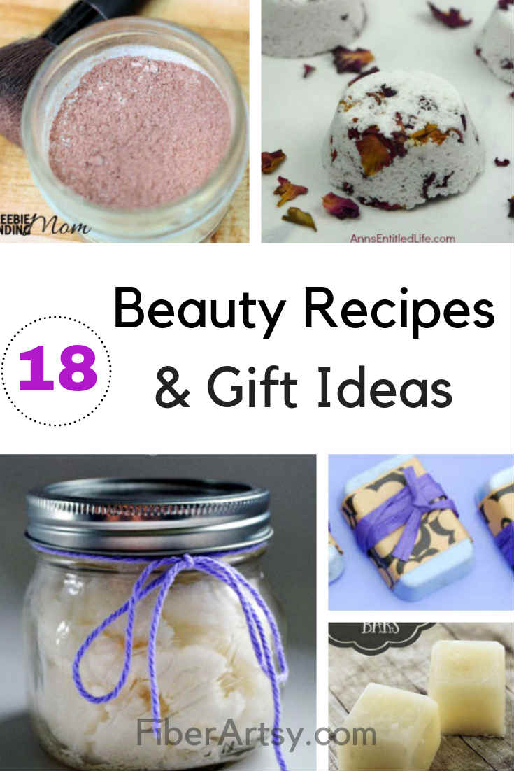 DIY Beauty Recipes and Homemade Gift Ideas. Easy Homemade Beauty Recipes including Bath Bombs, Homemade Soap and Salt Scrubs