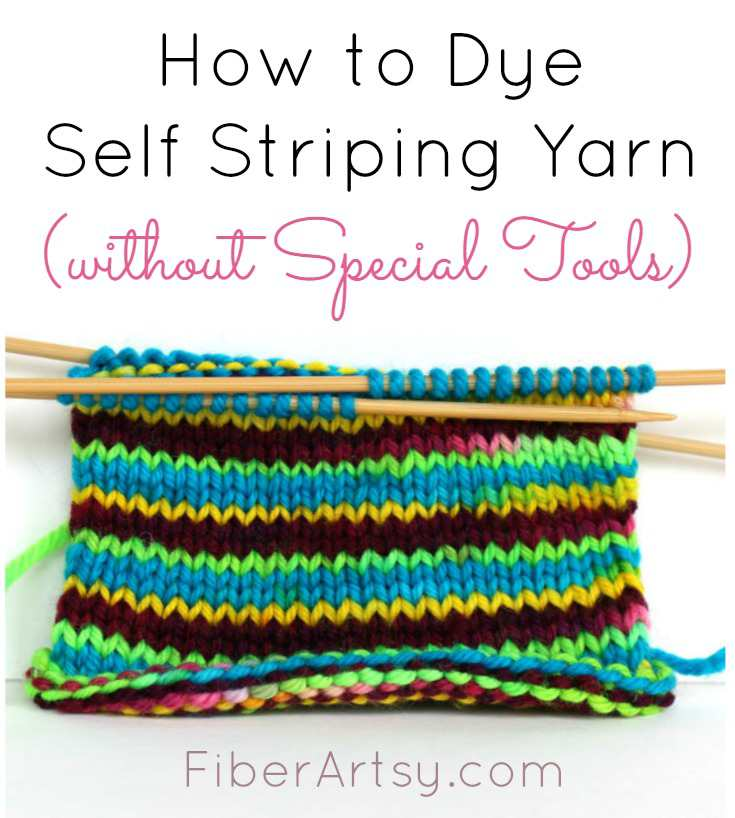 Dye Self Striping Yarn with this easy yarn dyeing technique