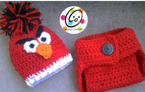 Crochet Diaper Set