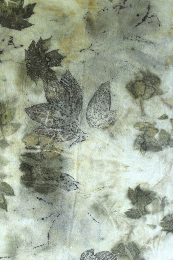 Eco Printing on Fabric with Iron Modifier
