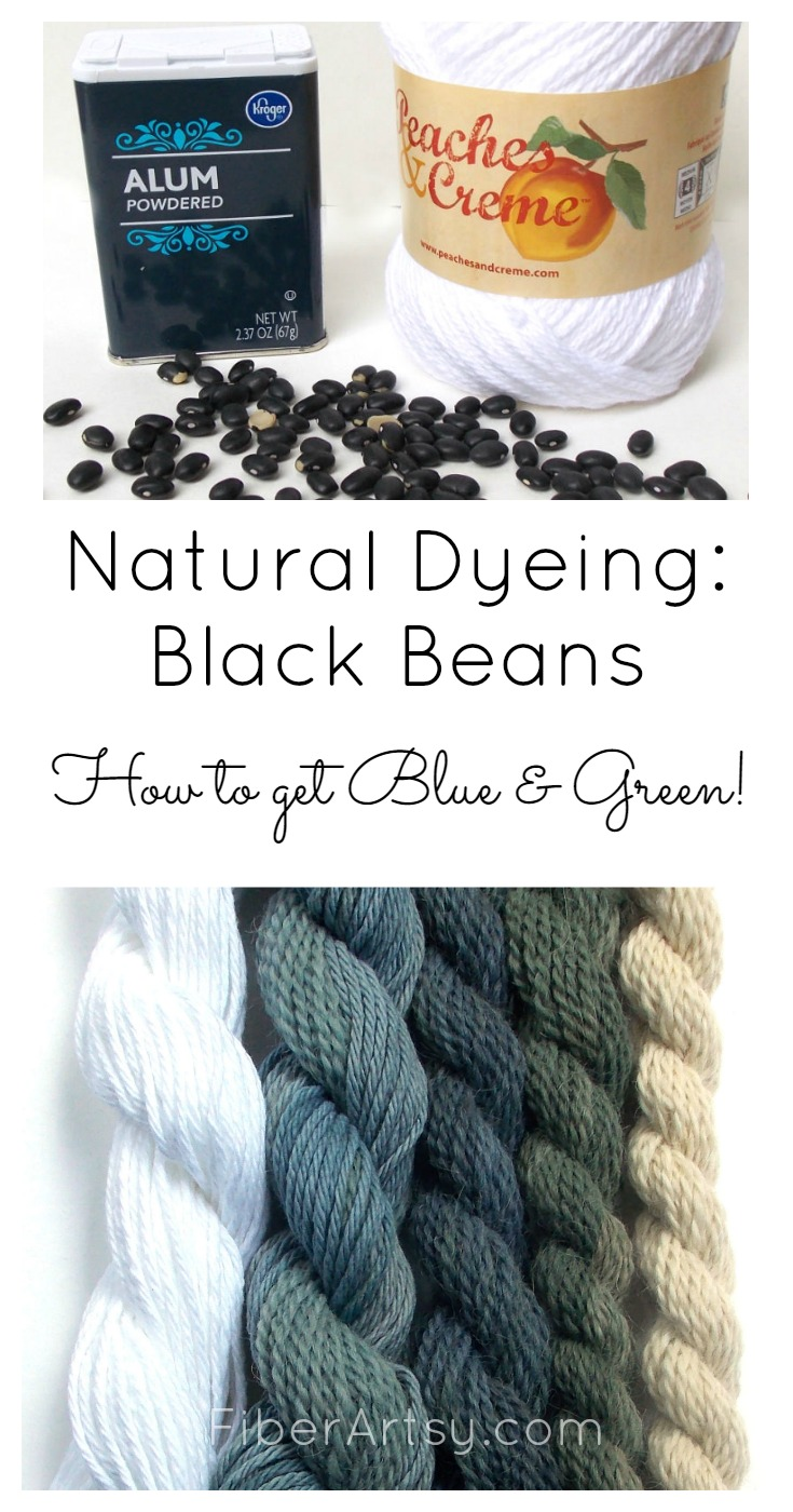 Natural Dyeing Yarn  with Black Beans, a FiberArtsy.com tutorial