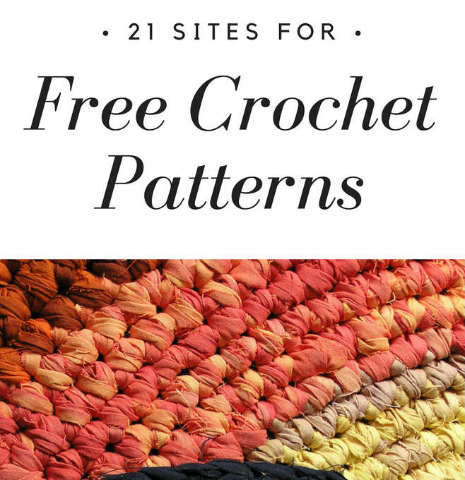 21 Sites For Free Crochet Patterns Fiberartsy