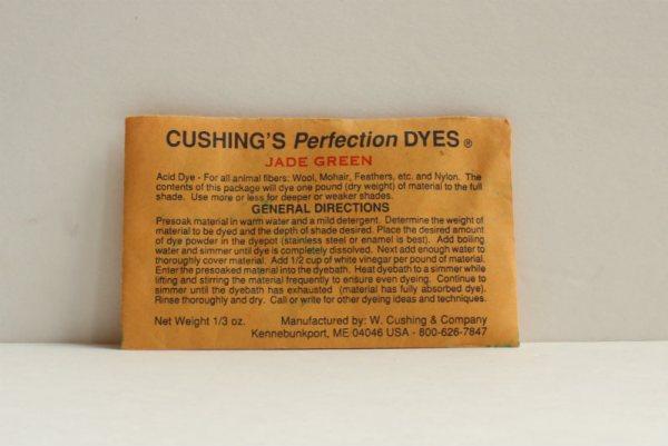 Cushing yarn dye Jade Green tutorial