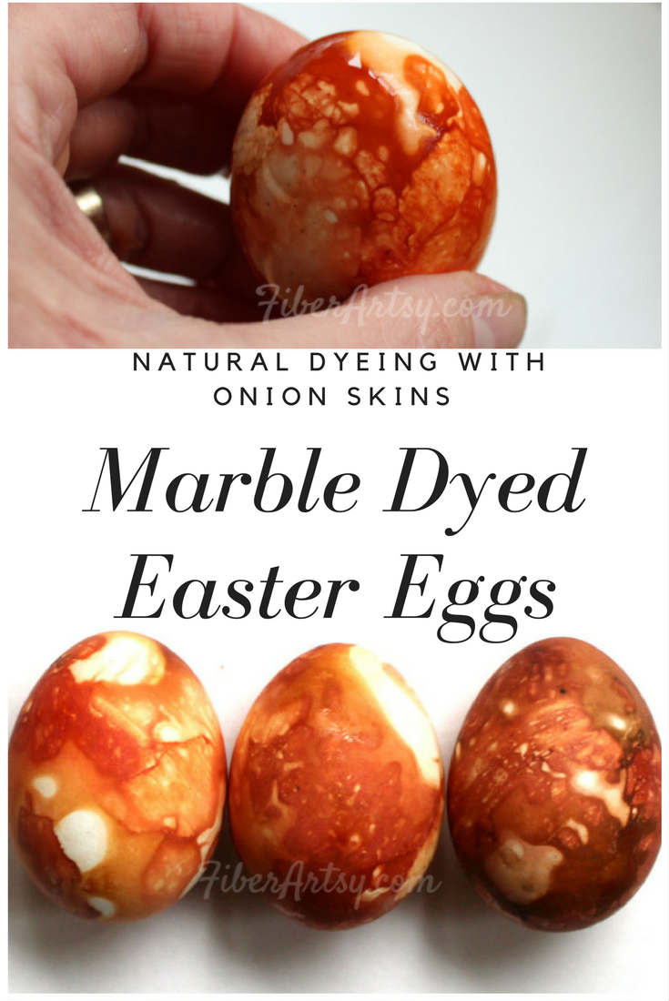 Marble Dyed Easter Eggs, a natural dyeing technique using onion skins. A cool Easter craft project that's also a lot of fun for kids.