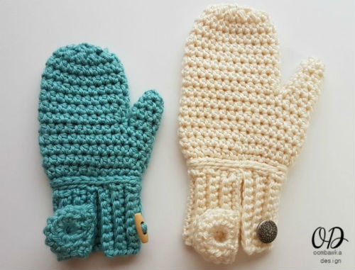 Easy On Mittens, a free crochet patterns by Oombawka Design Crochet