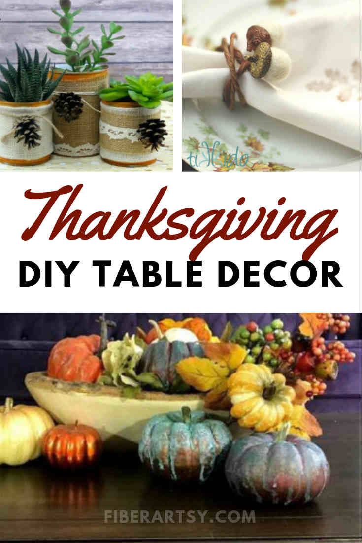 Homemade DIY Thanksgiving Table Decorations