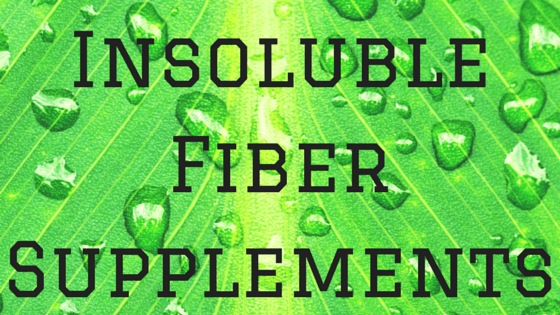 Insoluble fiber supplements