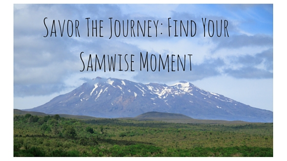 Savor The Journey- Find Your Samwise Moment