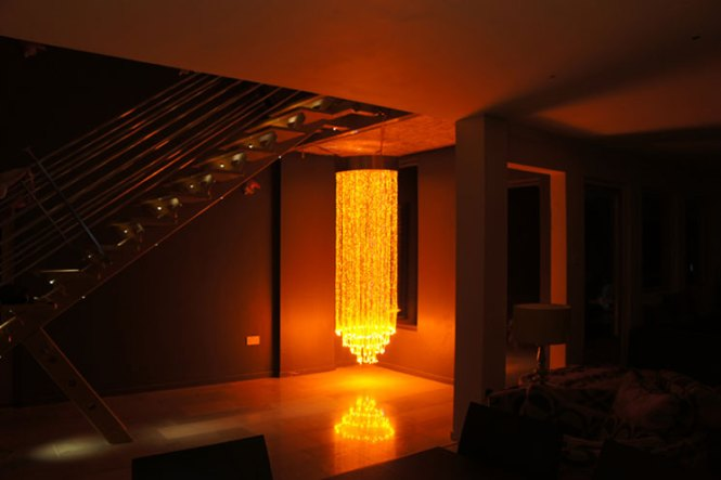 Stunning Fiber Optic Chandeliers Designed And Manufactured In House By Ufo