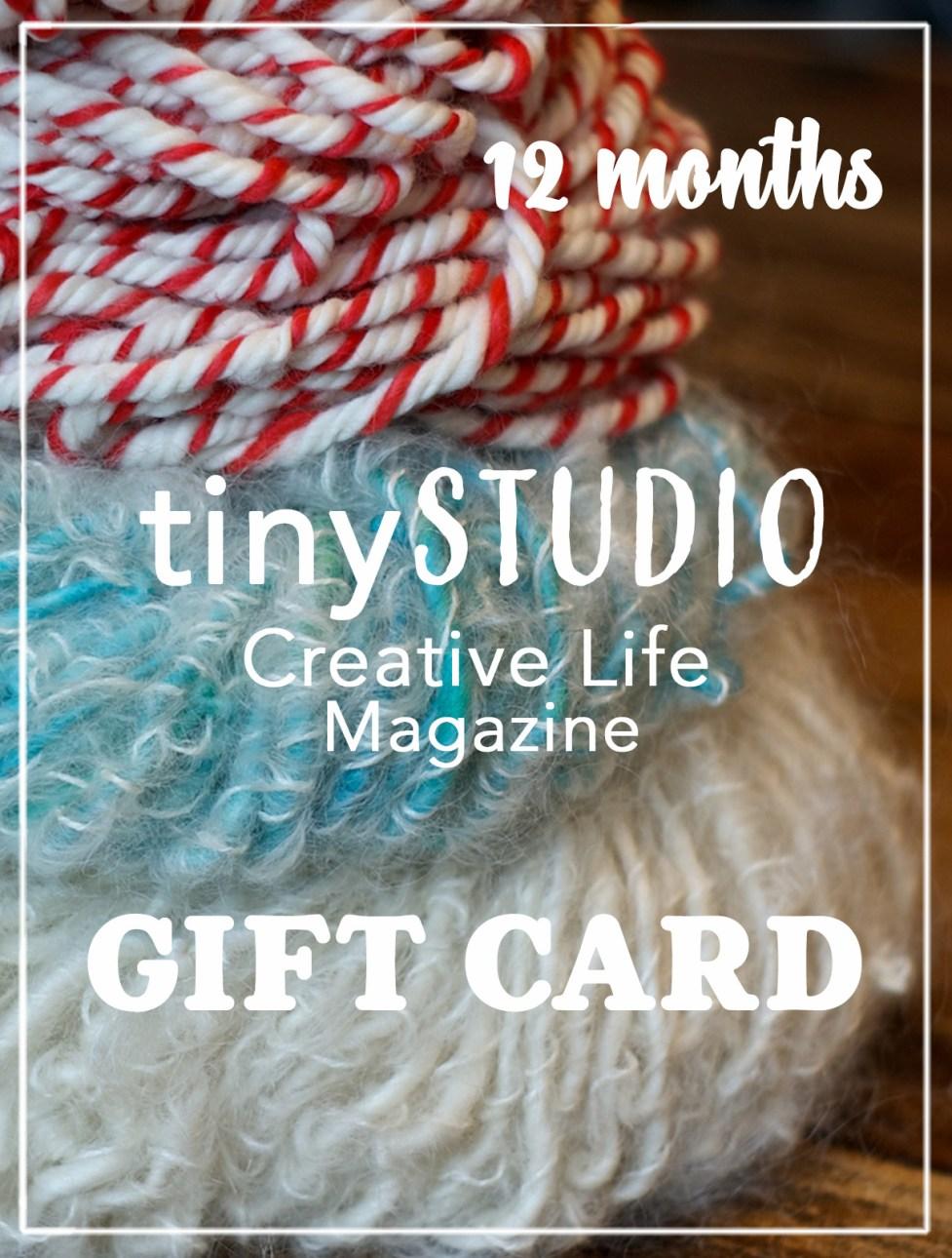 12 Months tinyStudio Gift Card