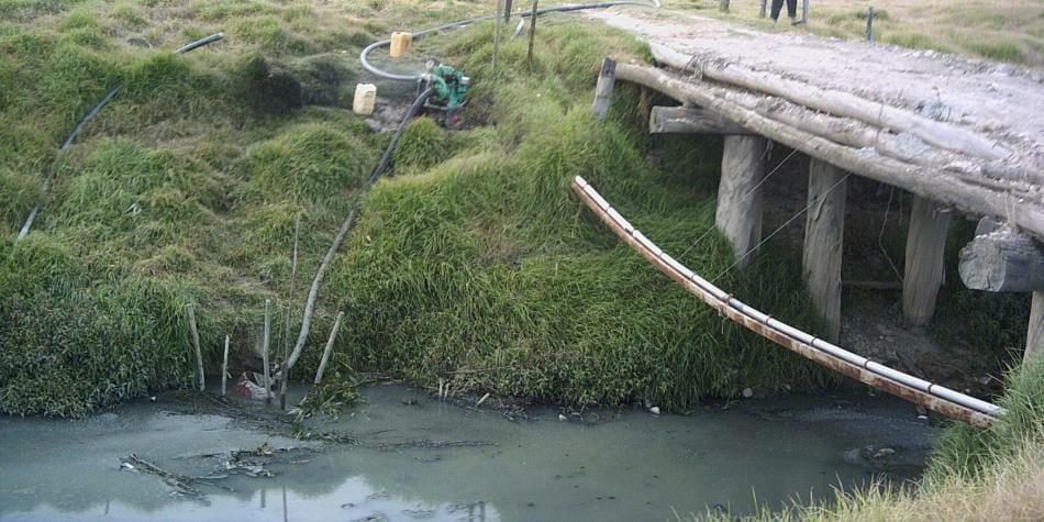 Municipio de Colombia no hacen tratamiento de aguas residuales.