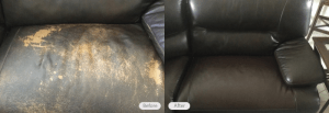 Leather Sofa Restoration by Fibrenew North Naples