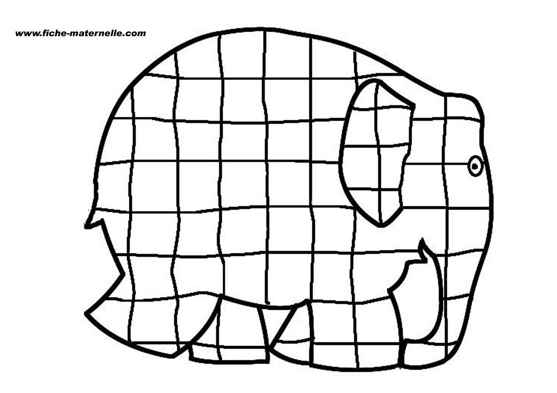 elmer the elephant printables