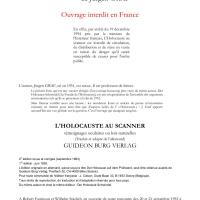 L'HOLOCAUSTE AU SCANNER