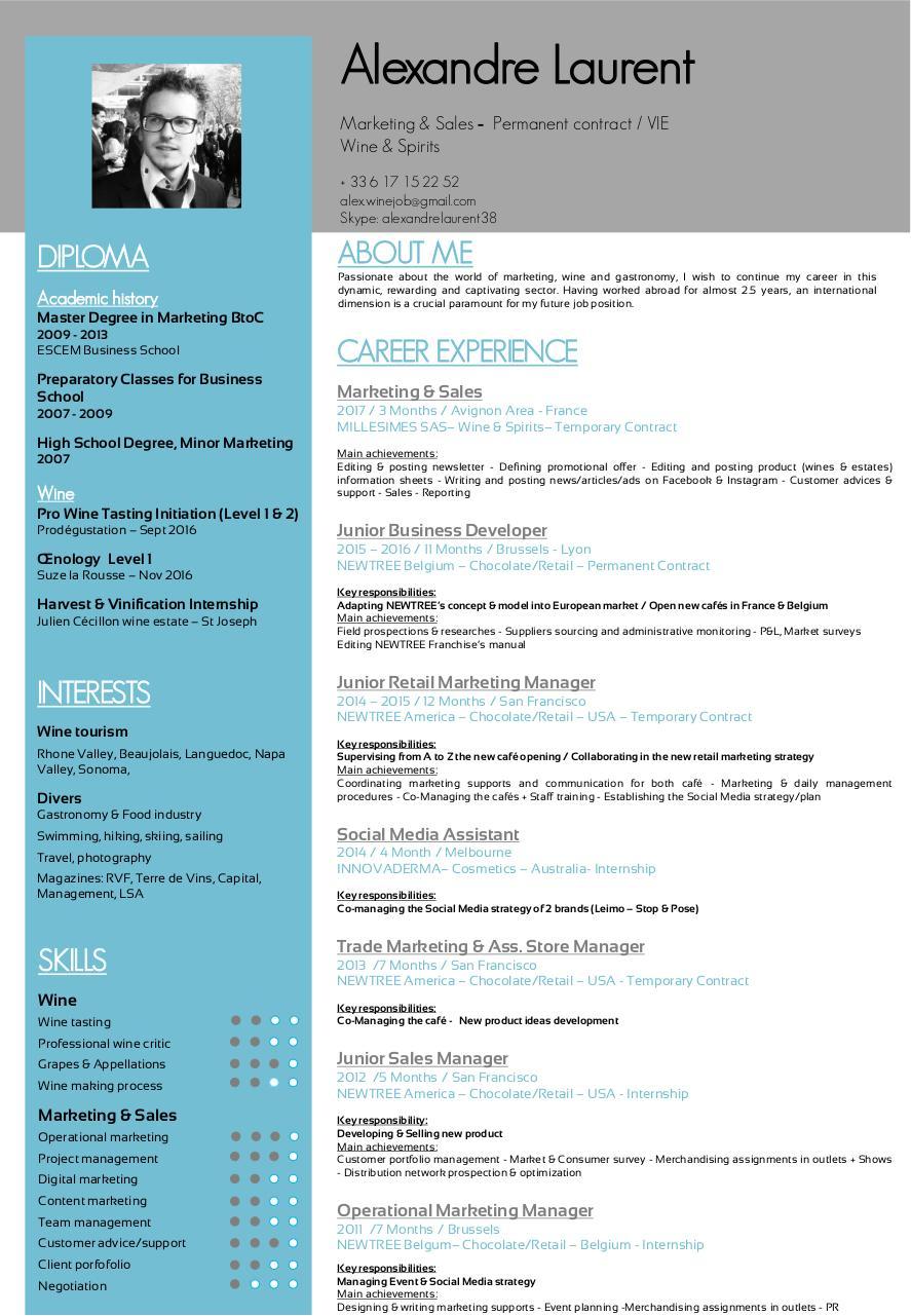 Prsentation PowerPoint Par Alexandre Laurent US CV 2017 Pdf Fichier PDF