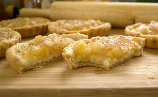 Mellark's Bakery Goat Cheese and Apple Tarts