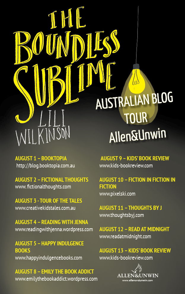THE BOUNDLESS SUBLIME Blog Tour banner