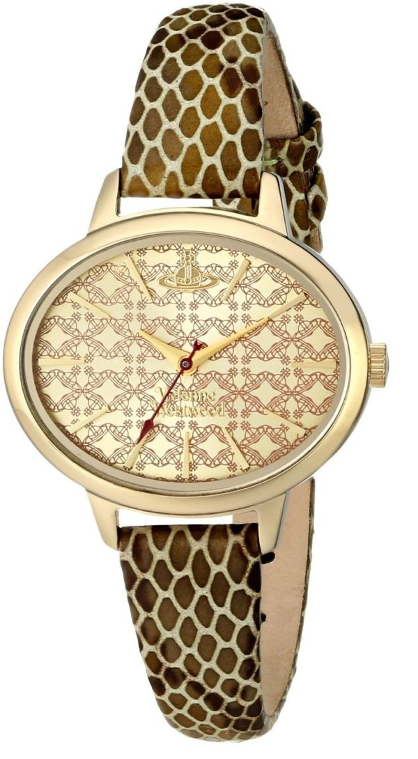 Vivienne Westwood Women's Watch Gold Dial Display Gold Leather Strap VV102GDGD